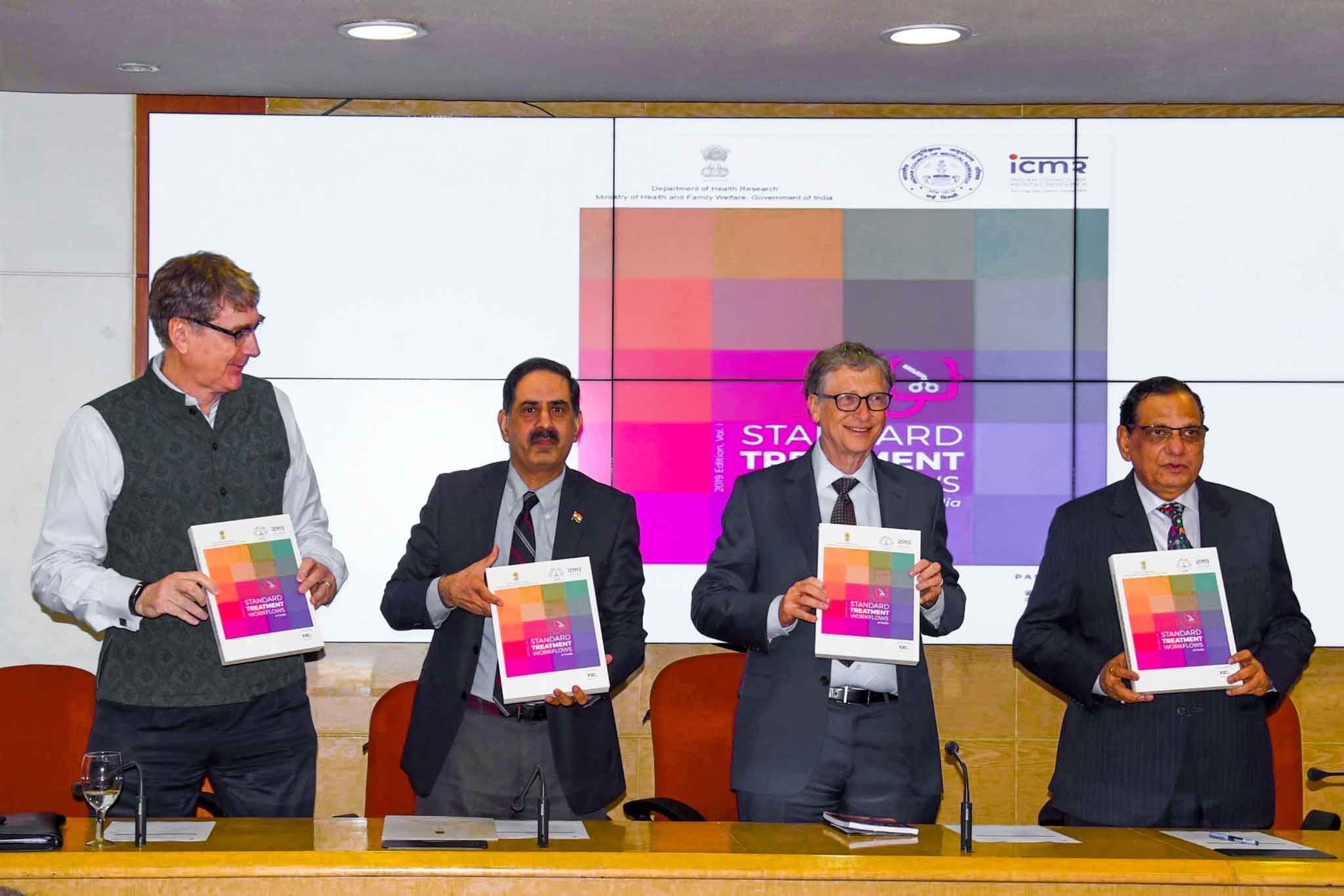 Standard Treatment Workflows of India manual designed by me was launched in ICMR on November 17, 2019 by Mr. Bill Gates, Mr. Henk Bekedam and Dr. Balram Bhargava