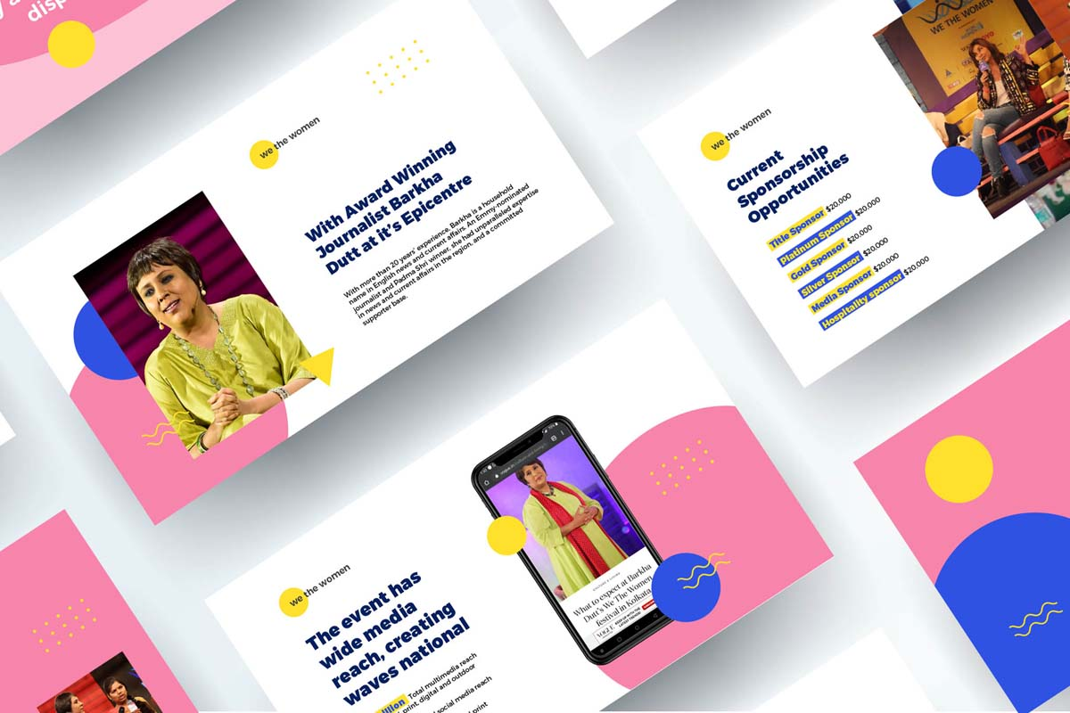 We The Women - Event Sponsorship Deck designed by me